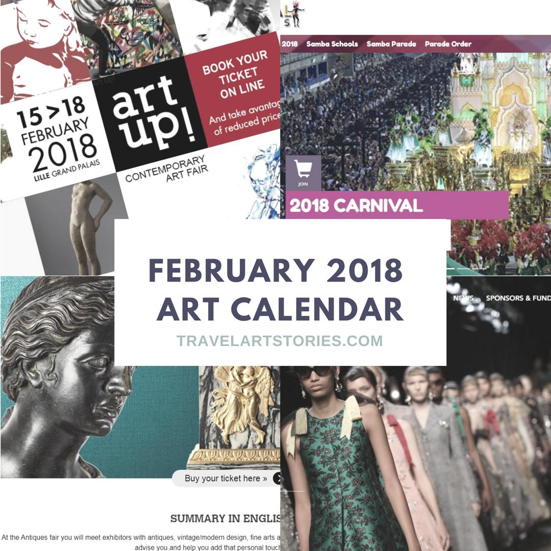 2018 Art events calendar