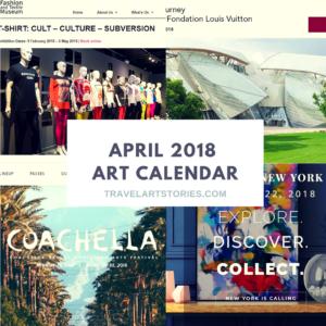 2018 Art calendar april