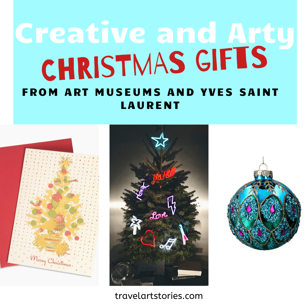 Creative and Arty Christmas gifts from art museums and Yves Saint Laurent