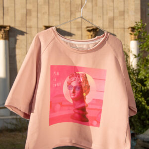 "Pink Crop Top T-shirt Art Print ""Pink is smART"""