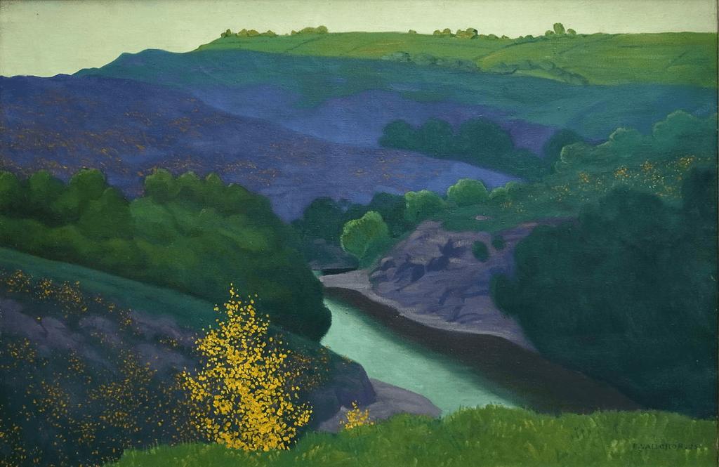 Green T-shirt Félix Vallotton, 1925 - Paysage de la Creuse